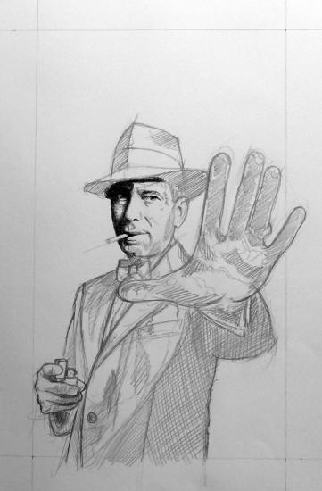 Humphrey Bogart par Pastis